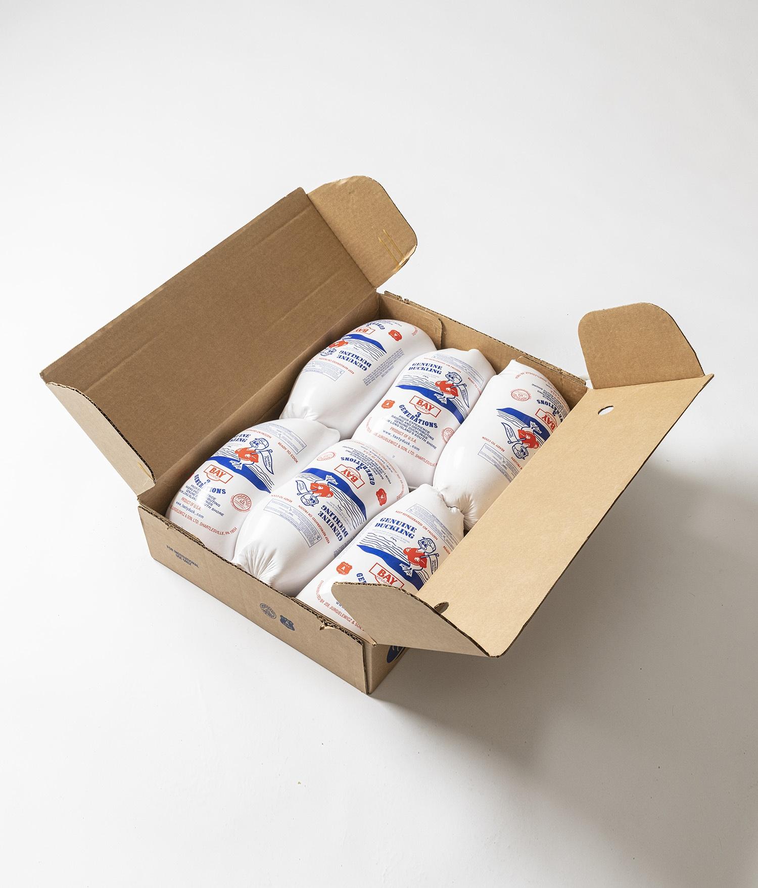Box of Bay Brand Ducks