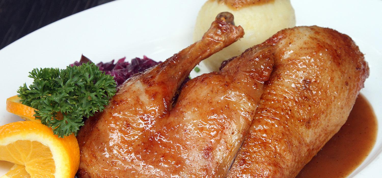 Roast Duckling Au Poivre